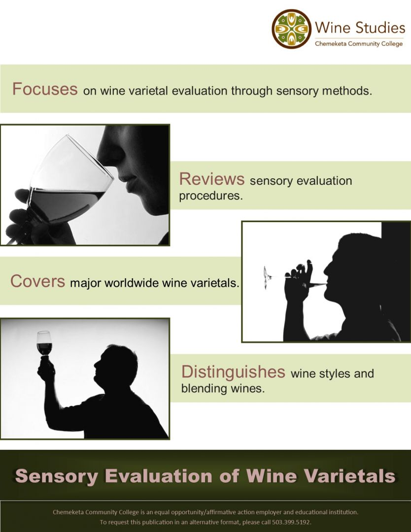 sensory evaluation of wine varietals course