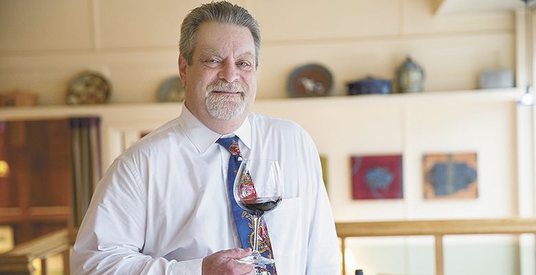 Much revered in the Oregon wine industry, Andy Zalman has been promoting Oregon wine for two decades at Portland's Higgins Restaurant.##Photo by John Valls