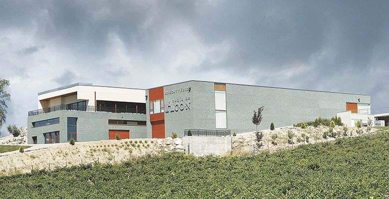 The modern winery at Abadía de Acón Winery in Burgos, Spain, produces world-class Tempranillo.##Photo provided