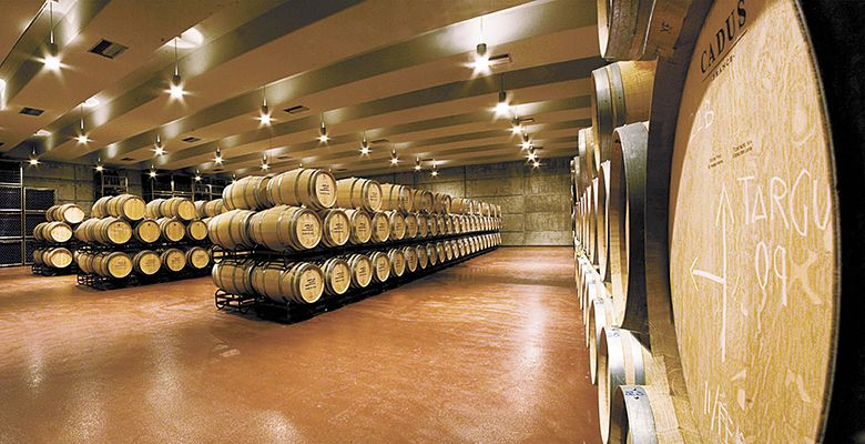 Abadía de Acón ages wine in the facility's state-of-the-art barrel room.##Photo provided