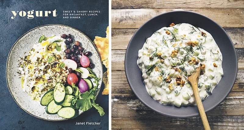 """Yogurt: Sweet and Savory Recipes for Breakfast, Lunch and Dinner"" is published by Ten Speed Press. Release date: April 14, 2015. Price: $19.99 (hardcover). At right, Persian Cucumber Salad