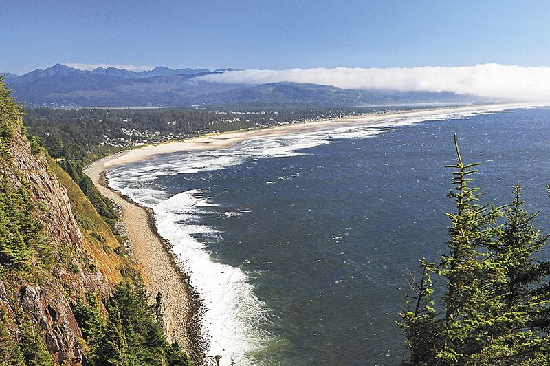 The village of Manzanita boasts a seven-mile coastline that is one of the most photographed beaches in Oregon.