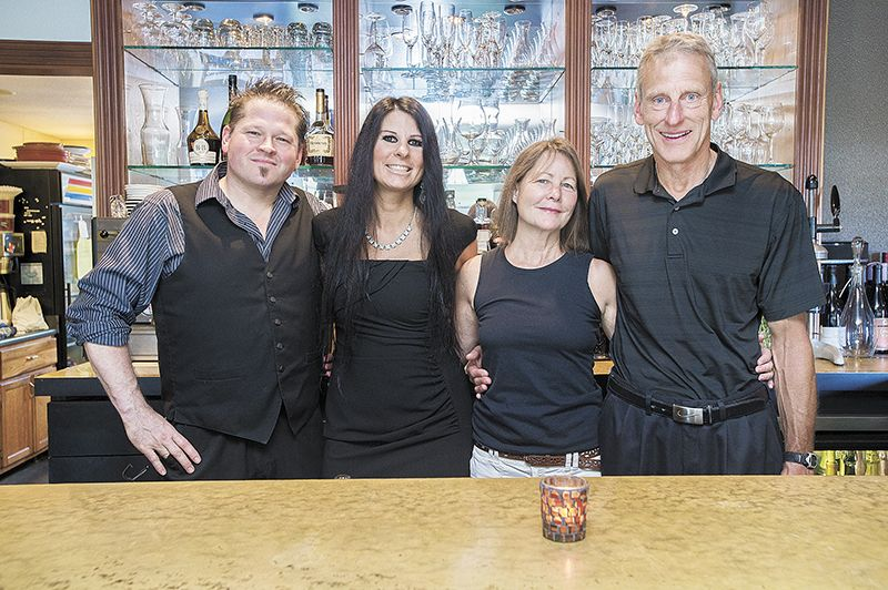 Tina's new owners, (from left) Michael and Dawn Stiller, and