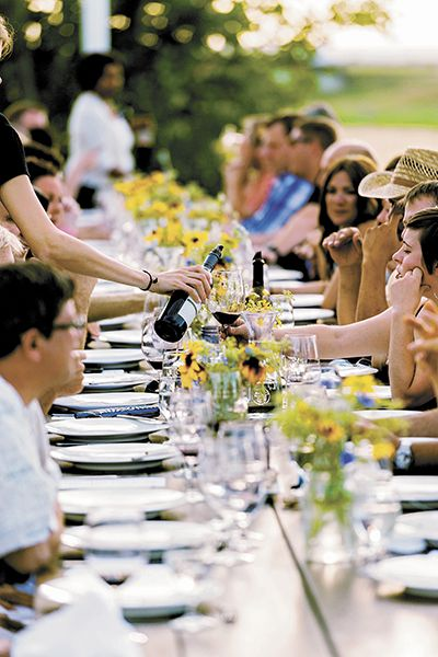 Guests enjoy wine-paired dinners at the Celebrate Walla Walla Valley Wine event, which focused on Merlot this year.##Photo by Richard Duval