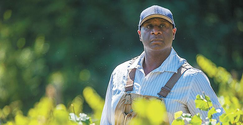 "Winemaker Bertony Faustin is the drive and inspiration behind the making of ""Red, White & Black,"" a documentary about minority winemakers.##Photo by Diego G. Diaz"