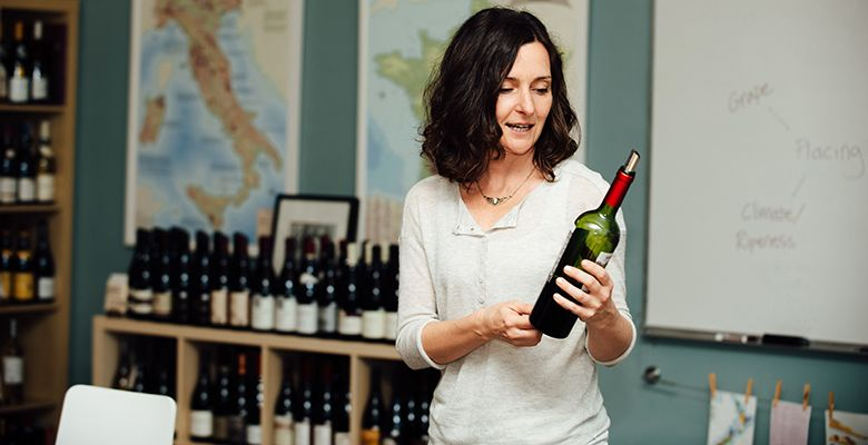 Mimi Martin, director of The Wine & Spirit Archive (WSA), readies her students for wine certification.