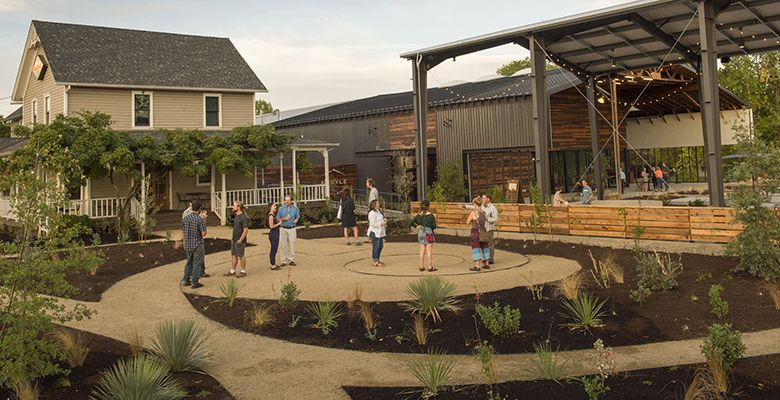 Argyle s new tasting house features modern landscaping designed by Sean Hogan of Cistus Design & Nursery.##Photo by Andrea Johnson