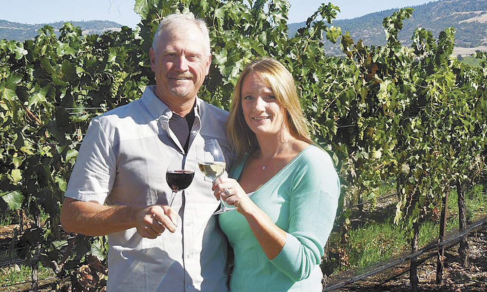 Ross and Jennifer Allen, 2Hawk Vineyard.