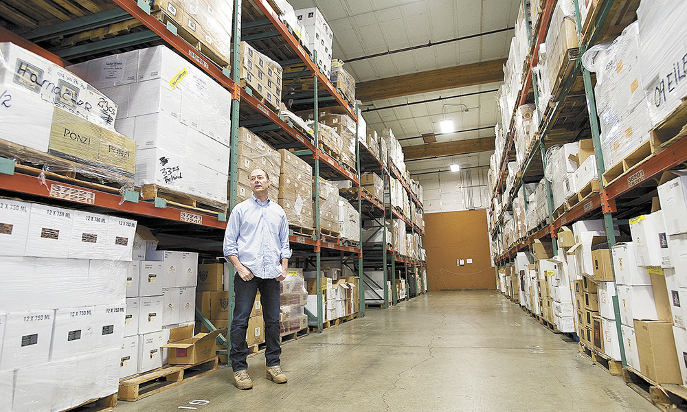 Co-owner and general manager Jeff Meader surveys a section of the 170,000-square-foot facility in McMinnville.##Photo by Marcus Larson