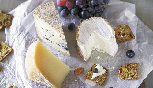 From left: Pyrenees, Good Shepherd Cheese, Owingsville, Kentucky; Bleu Sunshine, Winter Park Dairy, Winter Park, Florida; Garretts Ferry, Many Fold Farm, Palmetto, Georgia.##Photo by Christine Hyatt
