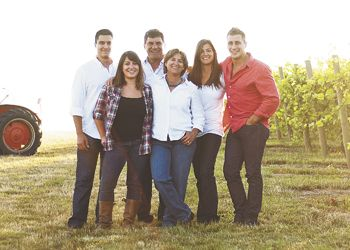 (From left) David, Jeanne, Dave, Deolinda, Stephanie and Samuel Coelho in the