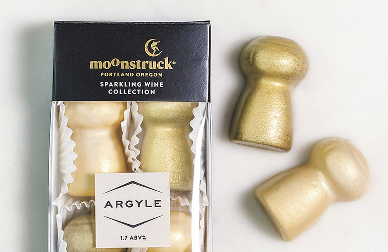 Moonstruck Chocolate Argyle Sparkling Wine Collection.