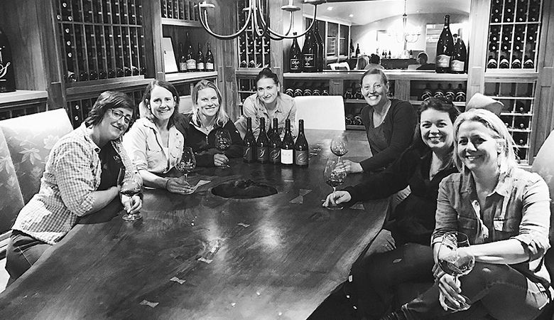 (From left) Gina Hennen of Adelsheim Vineyard, Lynn Penner-Ash of Penner-Ash Wine