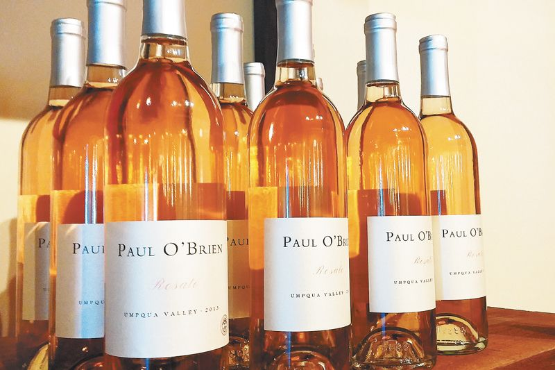 Paul O'Brien Rosato is made from Umpqua Valley Sangiovese. ##Photo by Paula Caudill.