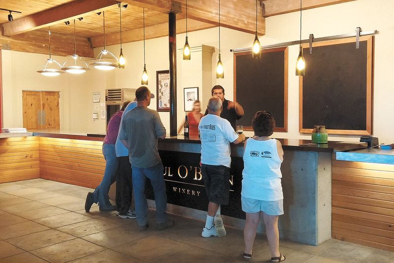 Paul O'Brien Winery in downtown Roseburg celebrated its grand opening on July 11.##Photo by Paula Caudill.