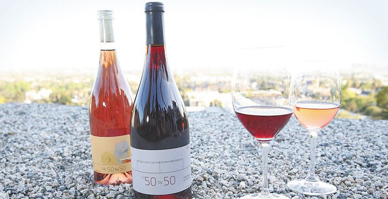 Current offerings from The 50 by 50, Gerald Casale's new winery, includes 2012 Sonoma Coast Pinot Noir and 2013 Sonoma Coast Rosé of Pinot Noir.