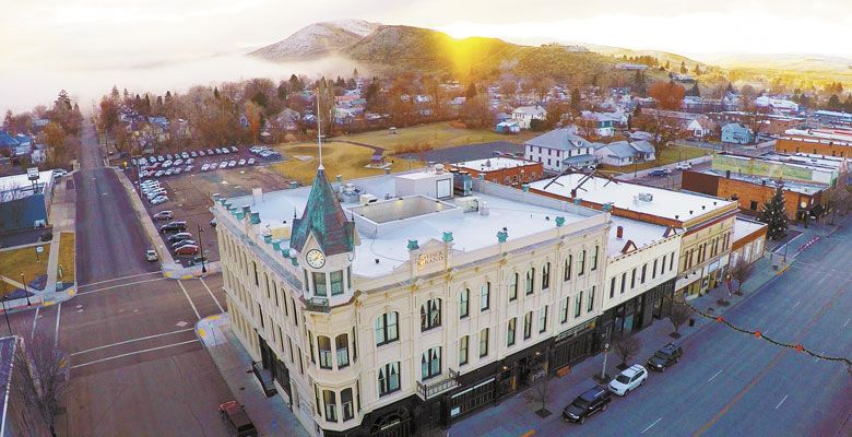 The Geiser Grand Hotel was restored by Barbara Sidway and her husband, Dwight; the Baker City landmark stands majestically downtown. ##Photo provided