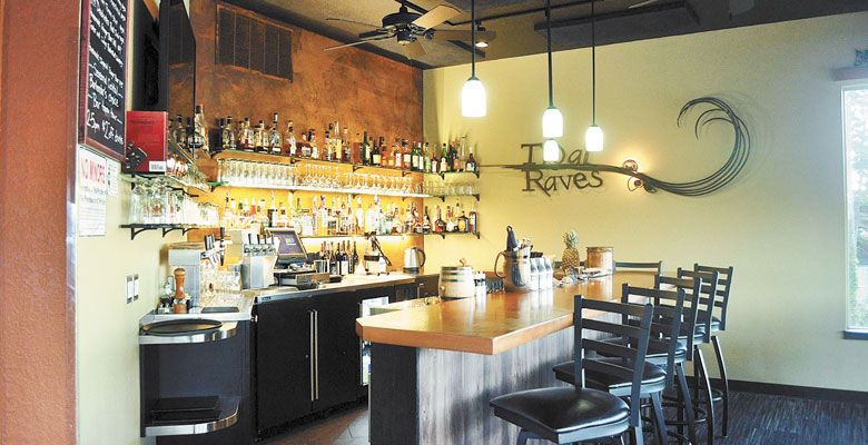 The bar at Tidal Raves in Depoe Bay offers an amazing selection of Oregon wines. ##Photo provided.