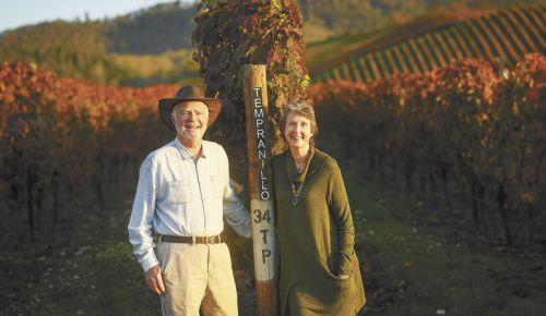 Earl and Hilda Jones of Abacela Winery. ##Photo by Andrea Johnson