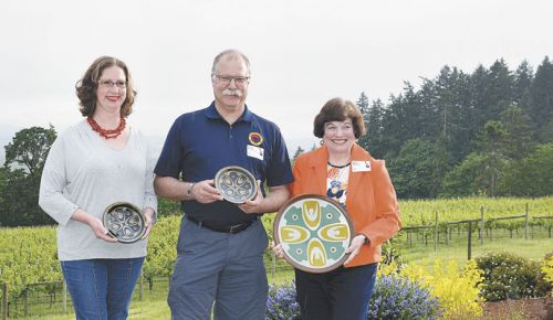 Emerging Leader Award: Anne Hubatch, Helioterra/Whoa Nelly/ Alter Ego Cider; Student of the Year: Gerry Rasch; Legacy Builder Award: Betty O'Brien, Elton Vineyard. ##Photo provided