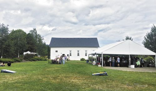 Guests gather at the inaugural