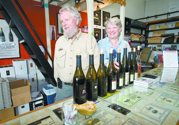 Amity Vineyards founder Myron Redford and his partner, Vikki Wetle.Photo by Marcus Larson