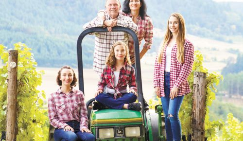 Youngberg Hill owners Wayne and Nicolette Bailey (back