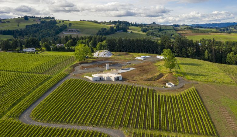 An aerial shot of Bernau Estate in the early stages of construction. ##Photo by Andrea Johnson