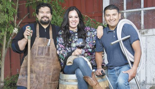 From left: Jesús Guillén, Sofía Torres McKay and Miguel Lopez. ##Photo by Andrea Johnson