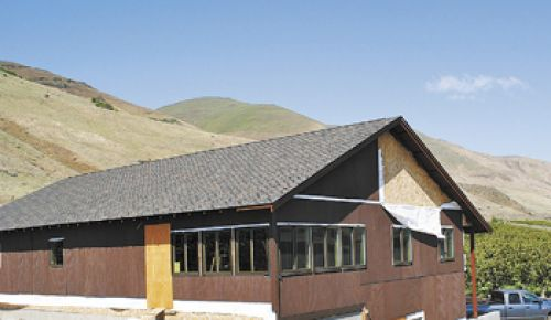 Brad Gearhart started construction on his new facility for Jacob Williams Winery in March. It is located a mile east of Cascade Cliffs Winery in