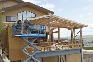 Maryhill's Reserve Room addition under construction in Goldendale, Wash.