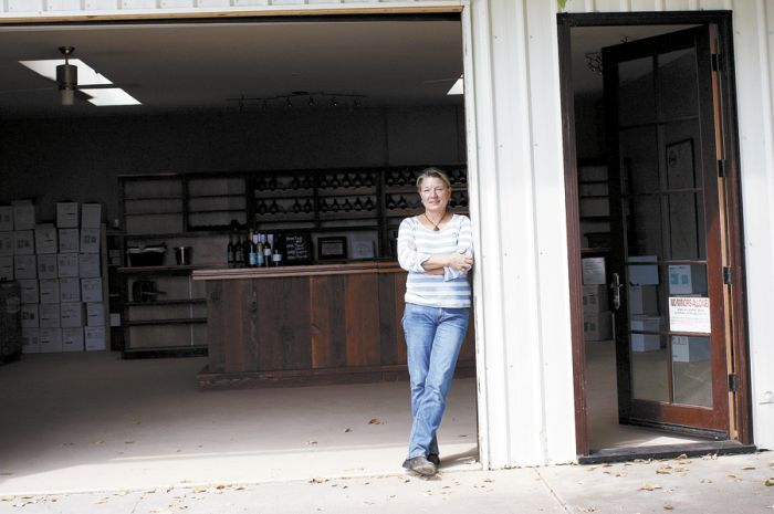 Linda Donovan inside her new tasting room at Valley View Orchard.