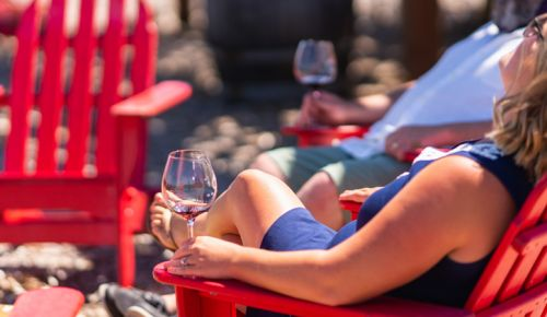 Guests relax in the sun at Brooks Winery in the Eola-Amity Hills. ##Photo provided