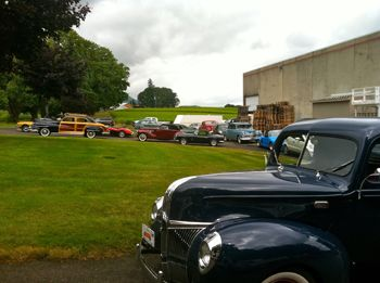 A 1940 Ford pickup is on the crush pad at Montinore Vineyards during the Forest Grove Vineyard and Lake Tour in 2011.  Photo by Janet Eastman