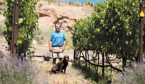 Longtime Central Oregon winegrower Kerry Damon at Redside Ranch. ##Photo provided