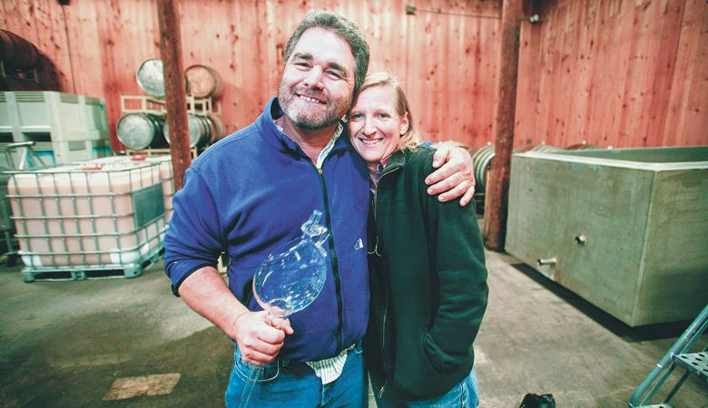 Dyson and Susan DeMara of HillCrest Vineyard in the Umpqua Valley. ##Photo provided