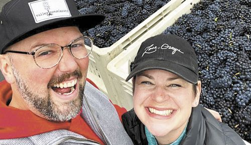 Joyful Noise winemakers/owners Deven and Calli Morganstern. ##Photo provided