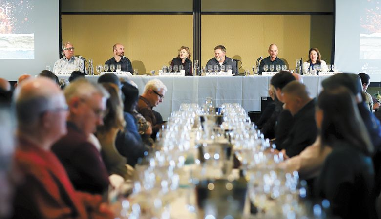 The winemakers panel at the 2020 Chardonnay Celebration (from left):