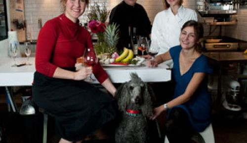 Chefs Studio: Blake Van Roekel, left, RobertReynolds, Kristen D. Murray and CourtneySproule.