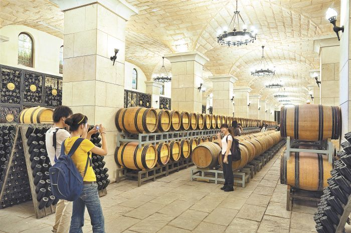 Chateau Sun God winery owned by China Great Wall Wine Co., Ltd., located in Shacheng, Hualien County, Hebei Province, China. Photo by Jānis Miglavs.
