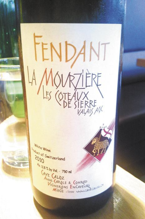 The bottle of Fendent writer Jim Gullo discovered at a Portland restaurant and then texted to his Swiss friend.