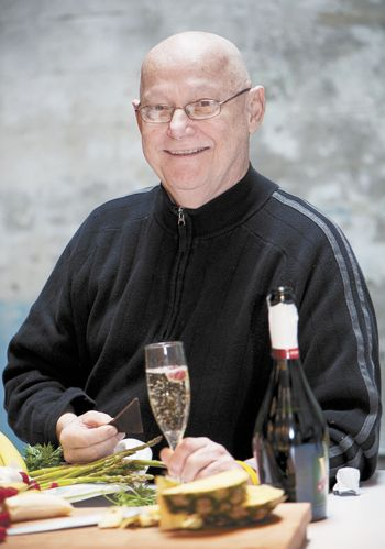"Robert Reynolds poses during a photo shoot for the cover of the February 2010 edition of the Oregon Wine Press at his studio. Kerry Newberry was the author of the corresponding article, titled ""For the Love of Food."""