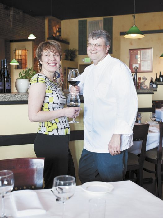 Matt and Janel Bennett of Sybaris Bistro in Albandy. Photo by Marcus Larson.