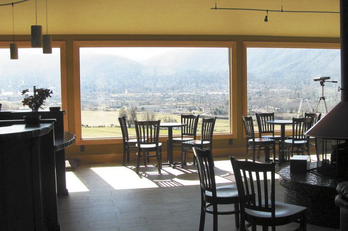Dana Campbell Vineyards' tasting room gives guests a grand view of Ashland.