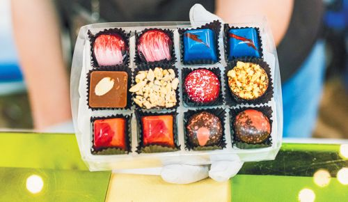 Imaginative truffles made by Temper & Mo. ##Photos courtesy of Oregon Chocolate Festival