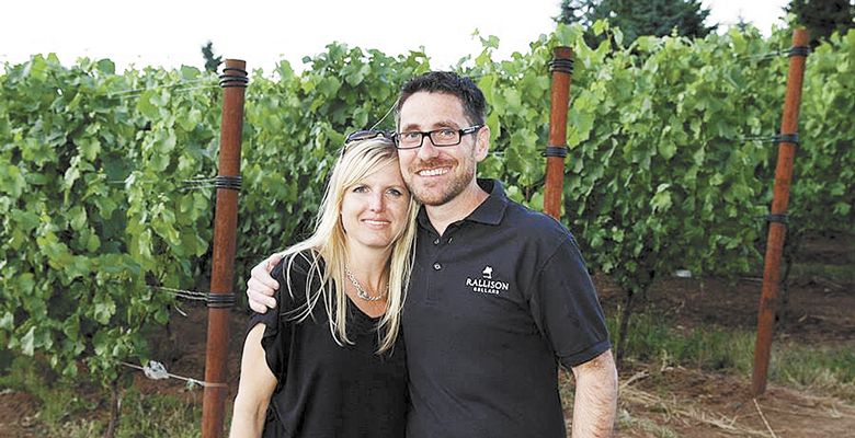 Cellars owners Jared and Lari Rallison. ##Photo Provided