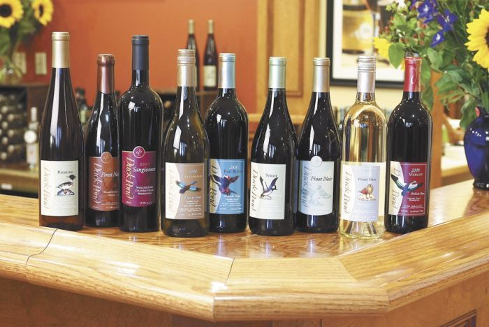 Duck Pond offers a great variety, including wines for its second label, Desert Wind (not pictured). Photo provided.