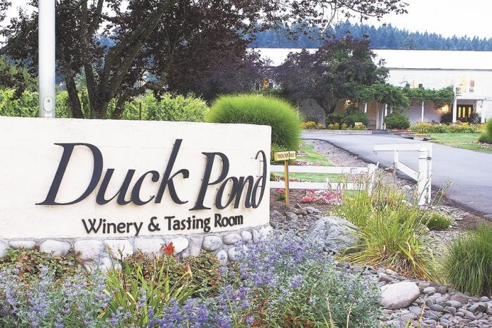 The manicured entrance greets guests off Highway 99W in Dundee. Photo provided.