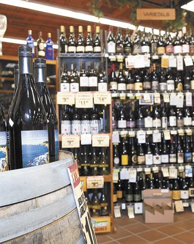 Roth's Fresh Market in McMinnville carries a great selection of Oregon wines. Photo by Marcus Larson/News-Register