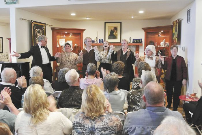"Eugene Opera's cast from Bizet's ""Dr. Miracle"" performs June 2012 inside the tasting room. Photo provided."